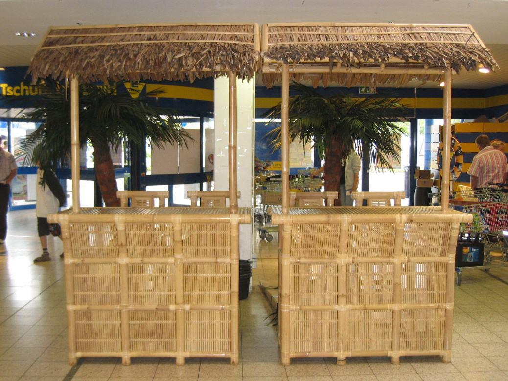 Topten Music More Bambus Bar Theke Tresen Beachparty Dekoration