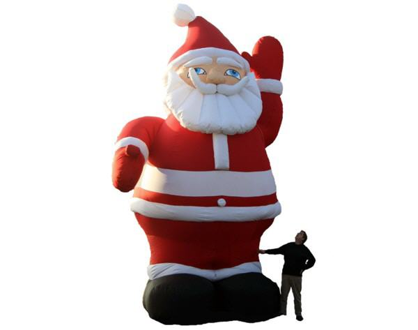 top ten music more nikolausfigur santa claus display xxl weihnachtsmann mieten